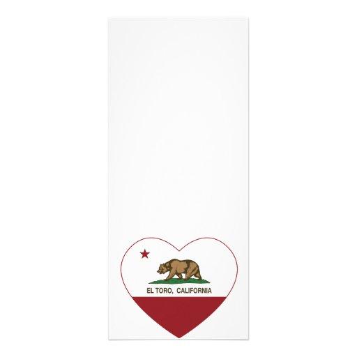 corazón del EL Toro de la bandera de California Anuncios Personalizados