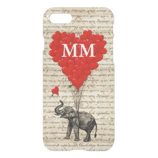 Corazón del elefante del vintage funda para iPhone 7