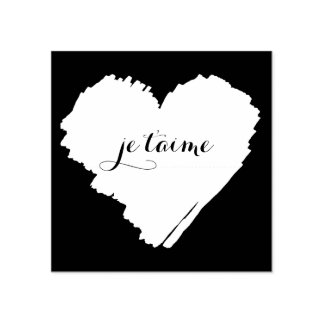 Corazón del francés de KiniArt te amo Sello De Caucho