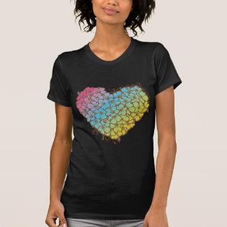 Corazón del hibisco camisas