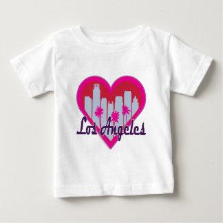 Corazón del horizonte de Los Ángeles Camiseta Para Bebé