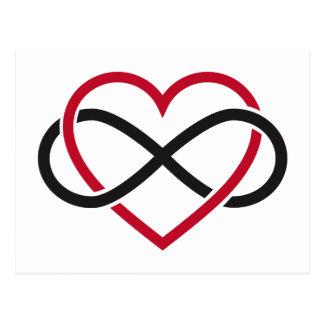 Corazón del infinito, amor interminable postal