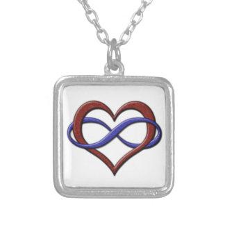 Corazón del infinito del orgullo de Polyamorous Colgante Personalizado