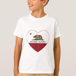 corazón del lago Tahoe de la bandera de California Camiseta