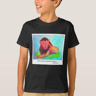 Corazón del león - protección John Muir del animal Camiseta