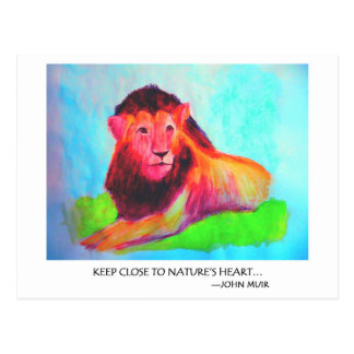 Corazón del león - protección John Muir del animal Postal