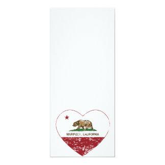 corazón del mariposa de la bandera de California Comunicados