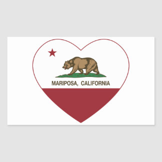 corazón del mariposa de la bandera de California Rectangular Altavoces