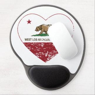 corazón del oeste de Los Ángeles de la bandera de  Alfombrillas Con Gel