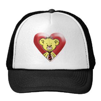 Corazón del oso de peluche gorro