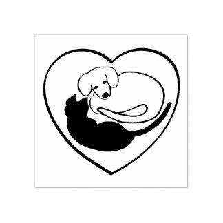 Corazón del perro y del gato/del perrito y del sello de caucho