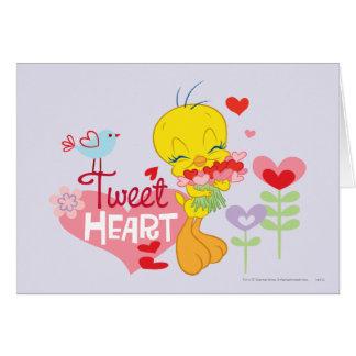 Corazón del pío tarjeta