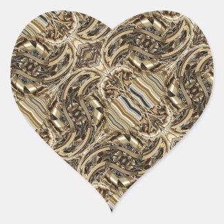 Corazón del Pistón-Poder de Steampunk Pegatina En Forma De Corazón