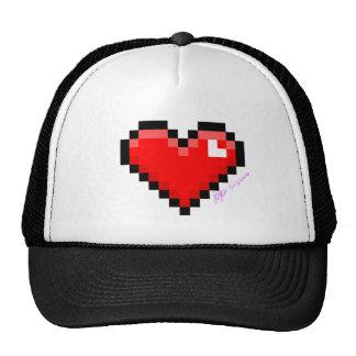 corazón del pixel gorro