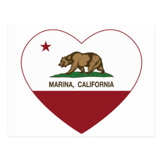 corazón del puerto deportivo de la bandera de Cali Tarjetas Postales