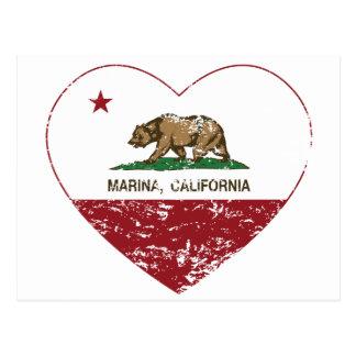 corazón del puerto deportivo de la bandera de Cali Postales