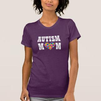 """""""Corazón del rompecabezas de la mamá del autismo"""" Camiseta"""