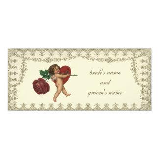 Corazón del rosa rojo del Cupid de la tarjeta del Invitacion Personal