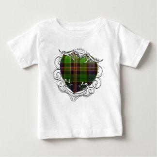 Corazón del tartán de Allison Camiseta De Bebé