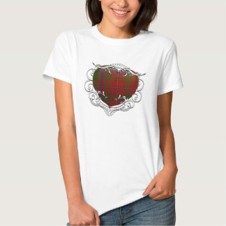 Corazón del tartán de MacDougal Camisetas