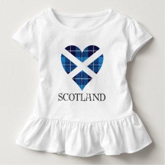 Corazón del tartán - Escocia Camiseta De Bebé