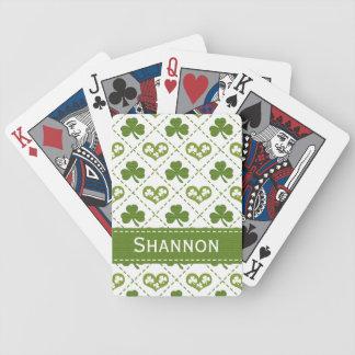 Corazón del trébol barajas de cartas