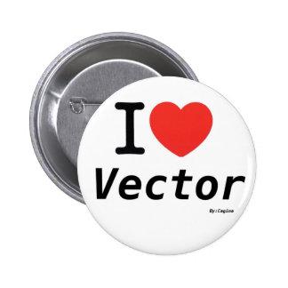 Corazón del vector pins