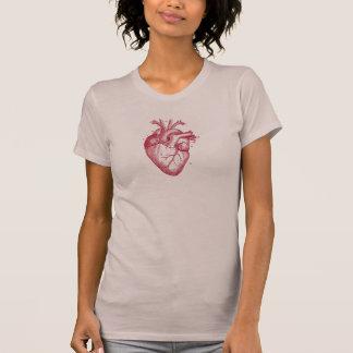 Corazón del vintage - anatomía camiseta