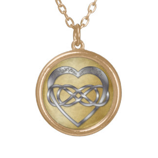 Corazón doble 3 de la plata del infinito - collar