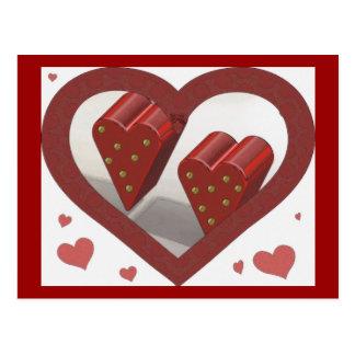 corazón doble 3D Postal