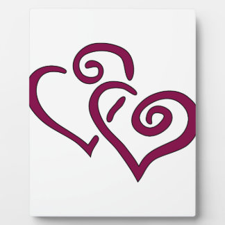 Corazón doble marrón placa expositora