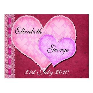 Corazón doble postal