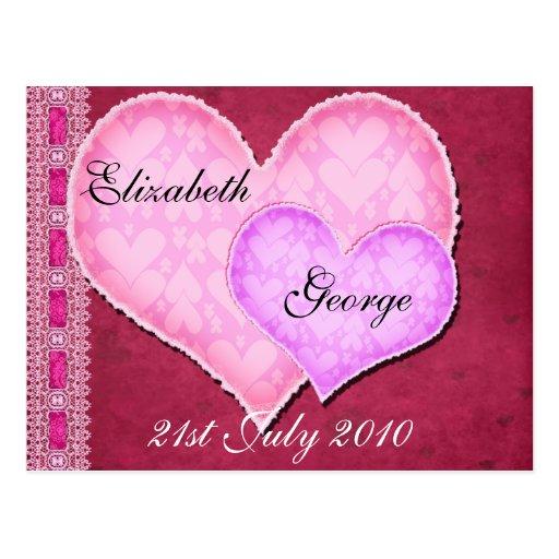Corazón doble postales