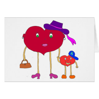 corazón e hijo tarjetón