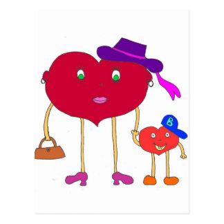 corazón e hijo tarjeta postal
