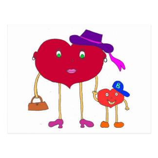 corazón e hijo postal