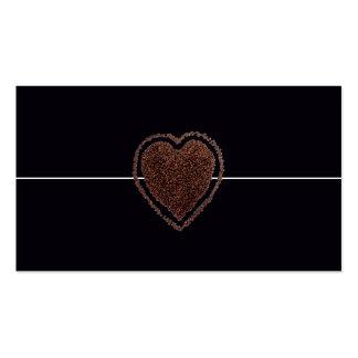 Corazón elegante moderno fresco del tarjetas de visita