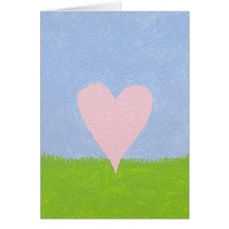 Corazón en el cielo tarjeta de felicitación