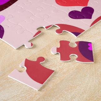 corazón en rompecabezas del corazón