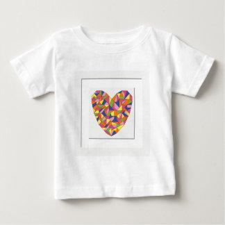 Corazón enmarcado camiseta de bebé