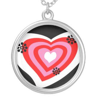 Corazón enrrollado pendiente personalizado