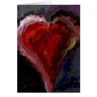 Corazón enrrollado - tarjeta del día de San