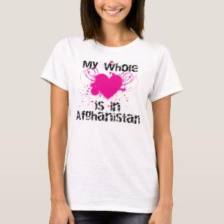 Corazón entero (Afganistán, rosa) Camiseta