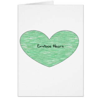 Corazón envidioso verde tarjetón