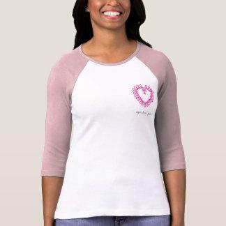 Corazón, esperanza, amor y fe de PinkRibbon Camisetas