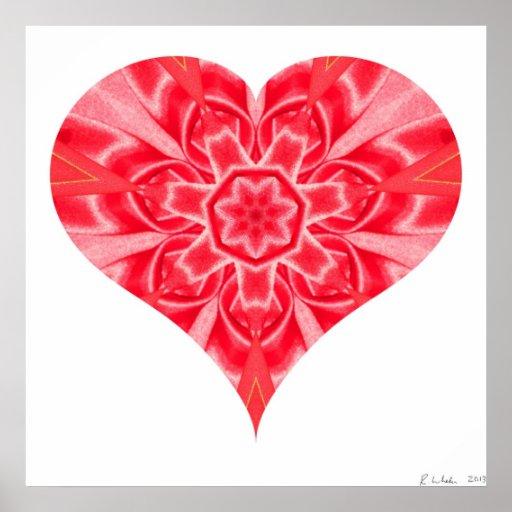 Corazón febrero de 2013 doblado impresiones