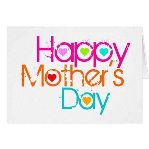 Corazón feliz 3 de la tarjeta del día de la madre