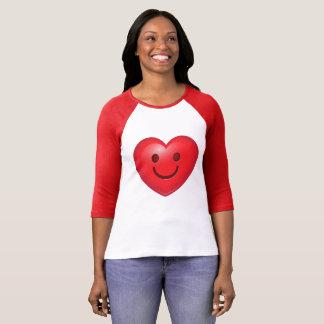 Corazón feliz Emoji Camiseta
