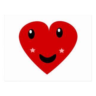 Corazón feliz postal
