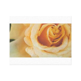 Corazón floral amarillo lienzo